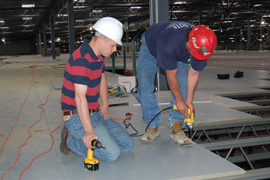 On-Site Installation Assistance of Equipment Platform Floor